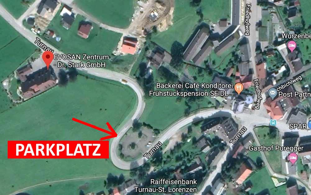 Parkplatz Information